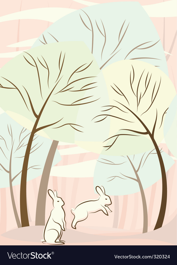 Trees and rabbit