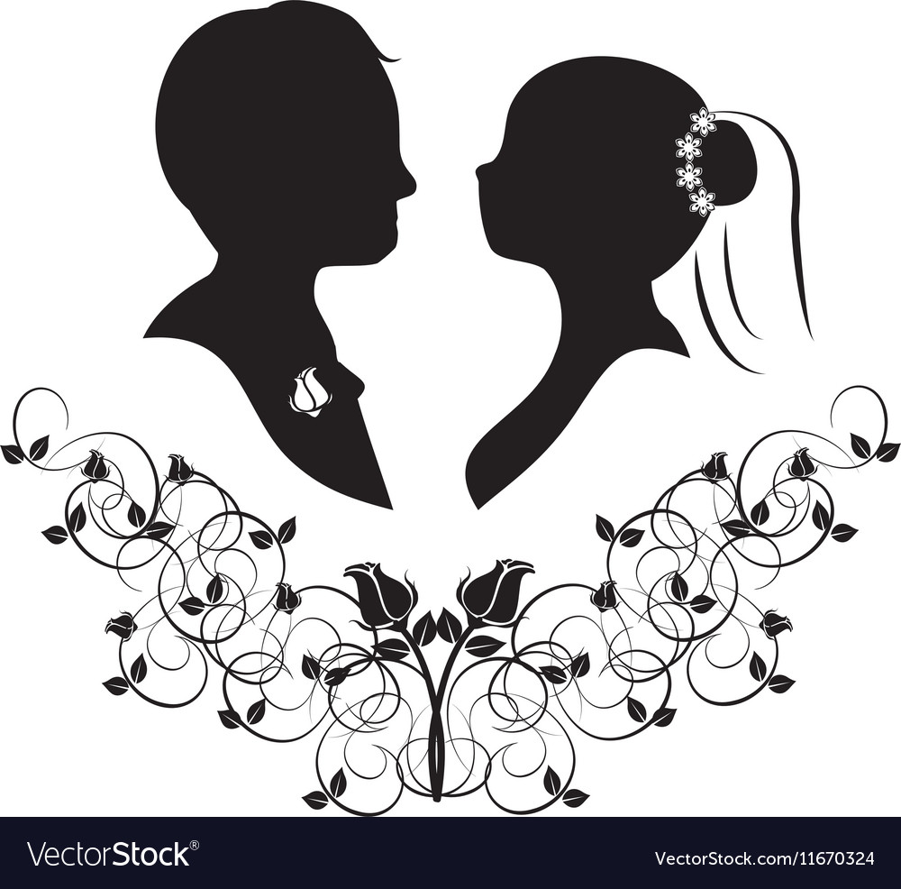 Wedding silhouette 4 royalty free vector image wedding silhouette 4 vector image junglespirit Gallery
