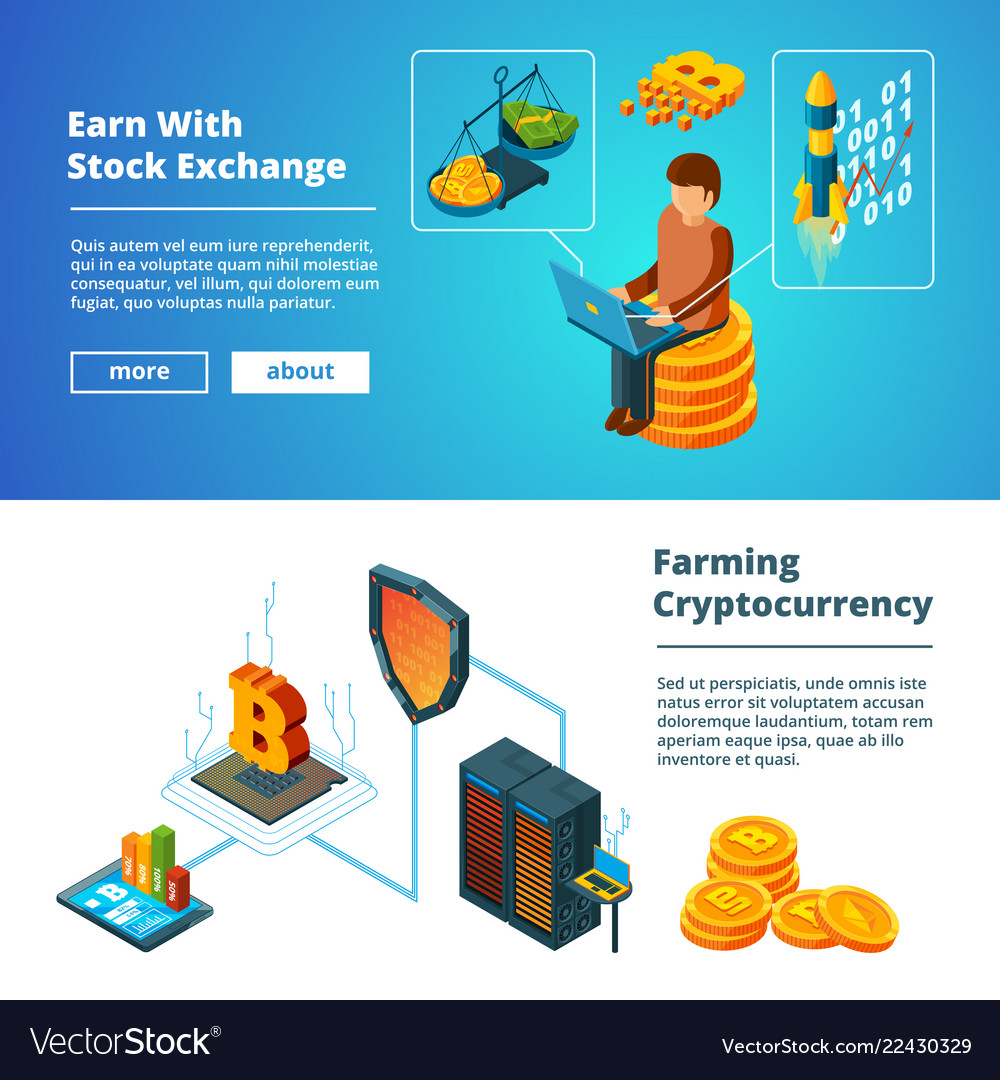 Cryptocurrency business banners global ico