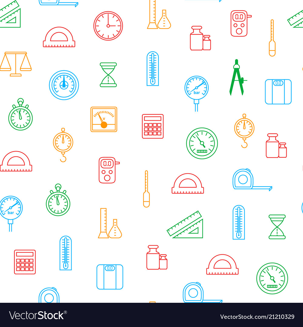 Measuring thin line seamless pattern background