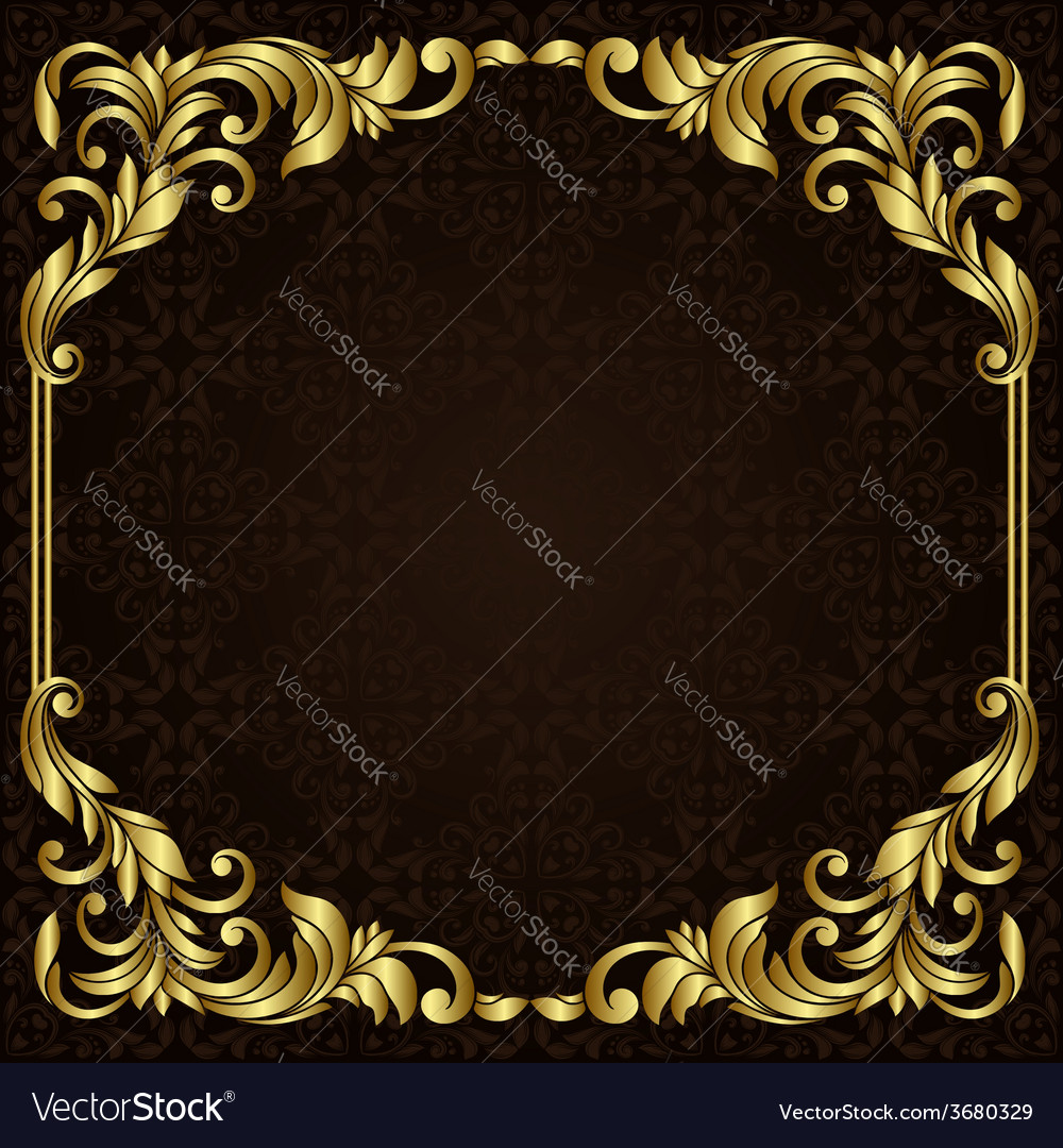 ornate gold border royalty free vector image vectorstock