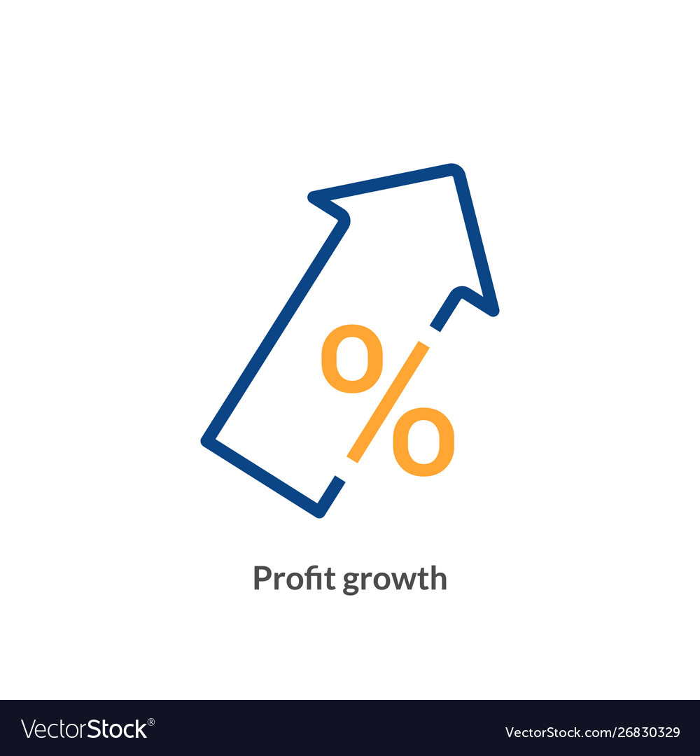 Profit growth icon chart arrow profit up success