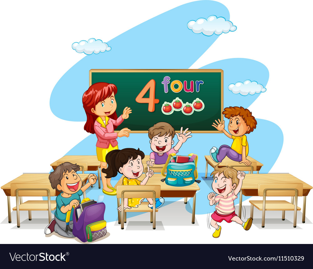 cartoon teacher teaching students class wwwtopsimagescom