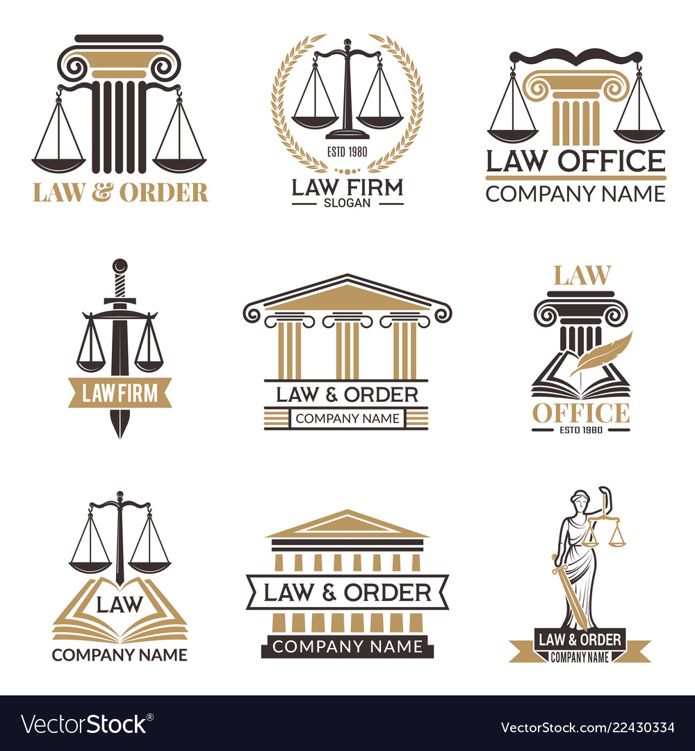 Badges of law and legal hammer of judge legal