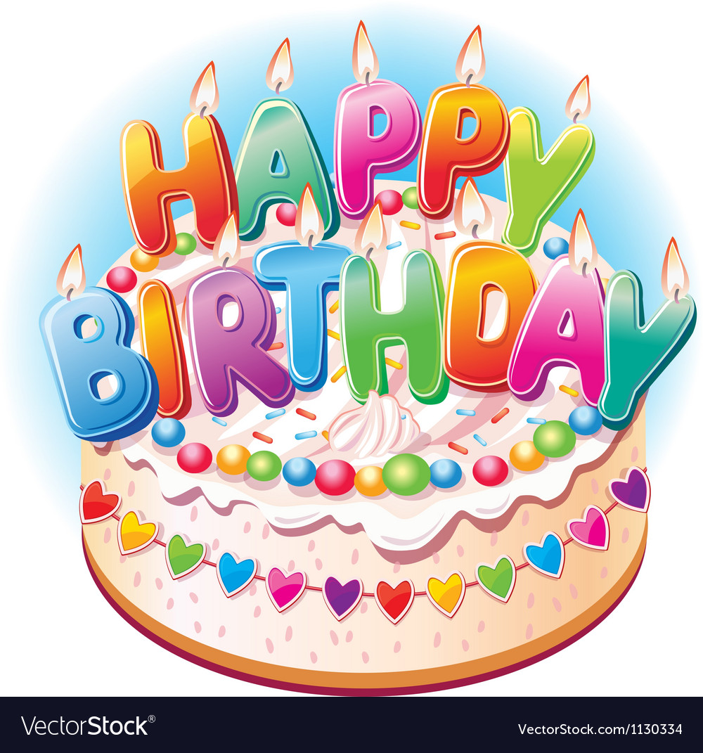 Excellent Birthday Cake Royalty Free Vector Image Vectorstock Personalised Birthday Cards Epsylily Jamesorg