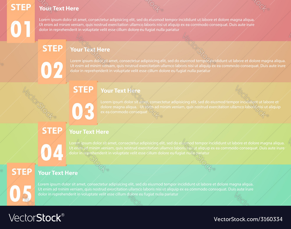 Five step infographics background