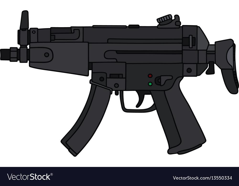 short submachine gun royalty free vector image