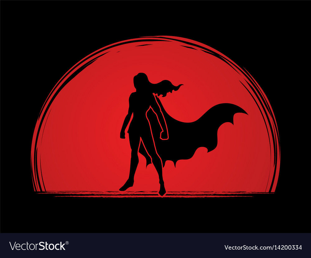 Super hero woman standing graphic