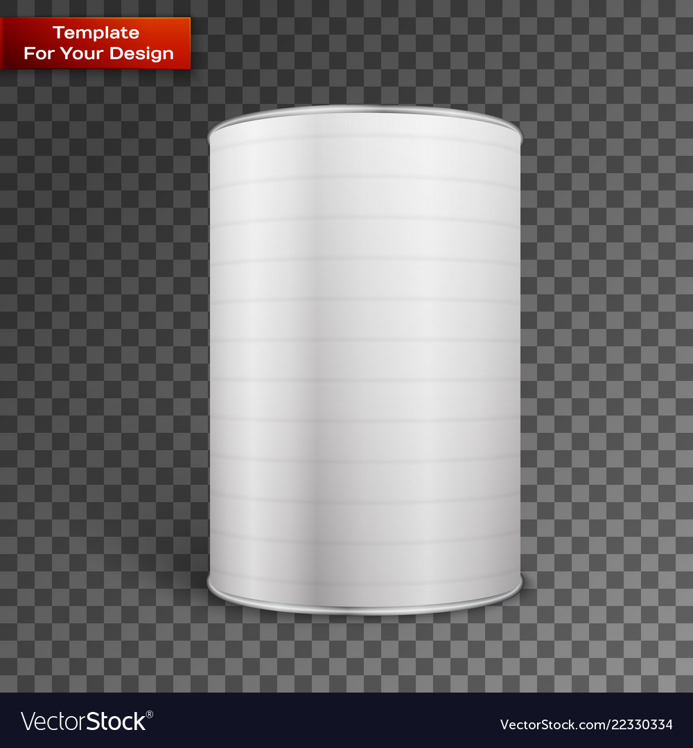 White blank tincan metal tin can