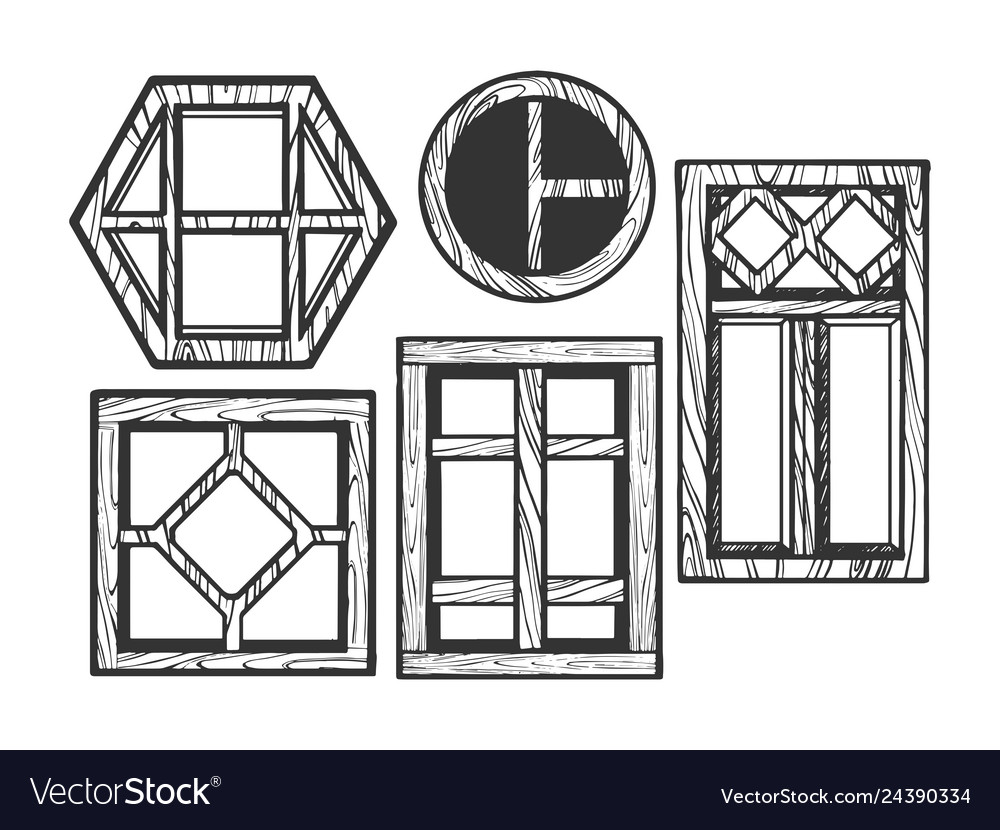 Windows wooden sketch engraving