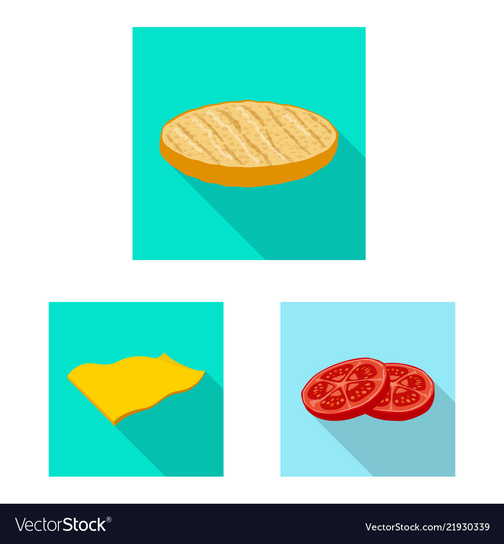 Design of burger and sandwich icon set of