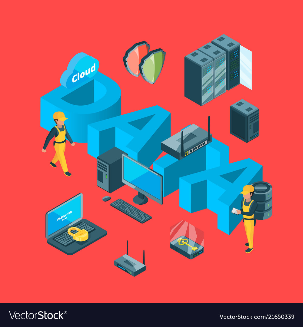 Electronic system of data center icons