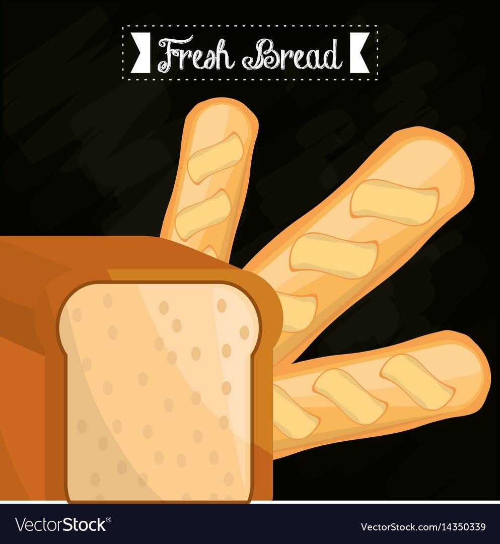 Fresh bread slice bread and baguette