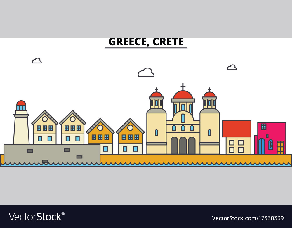 Greece crete city skyline architecture