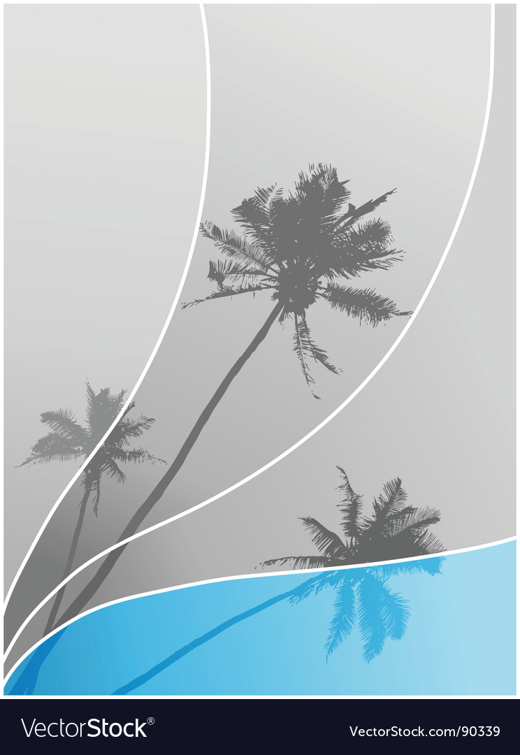 Illustration with palm trees