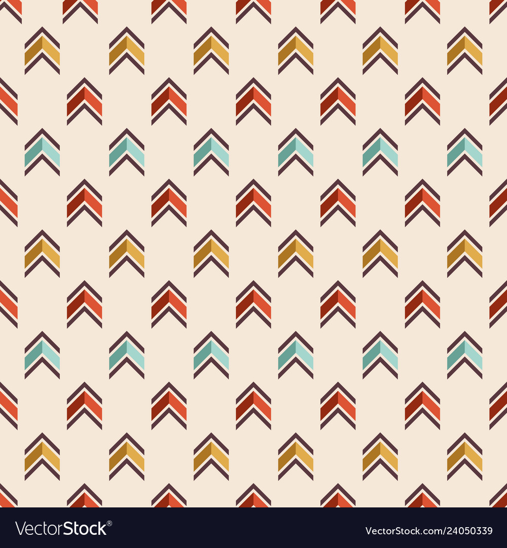 Seamless colorful pattern of arrows
