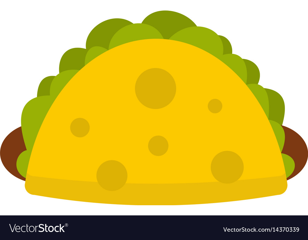 Tortilla wrap with vegetables icon isolated vector image