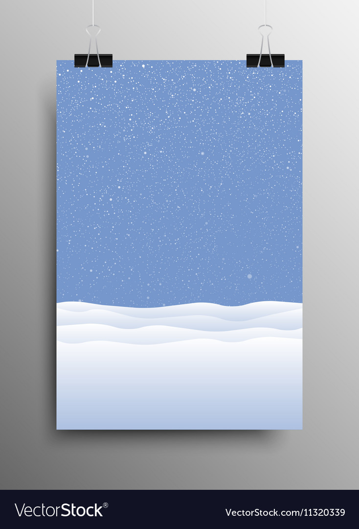 Vertical Poster Snow drift Christmas New Year