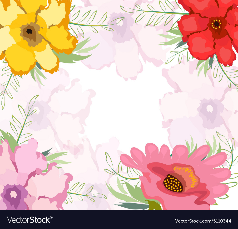 Watercolor Flower Background Royalty Free Vector Image