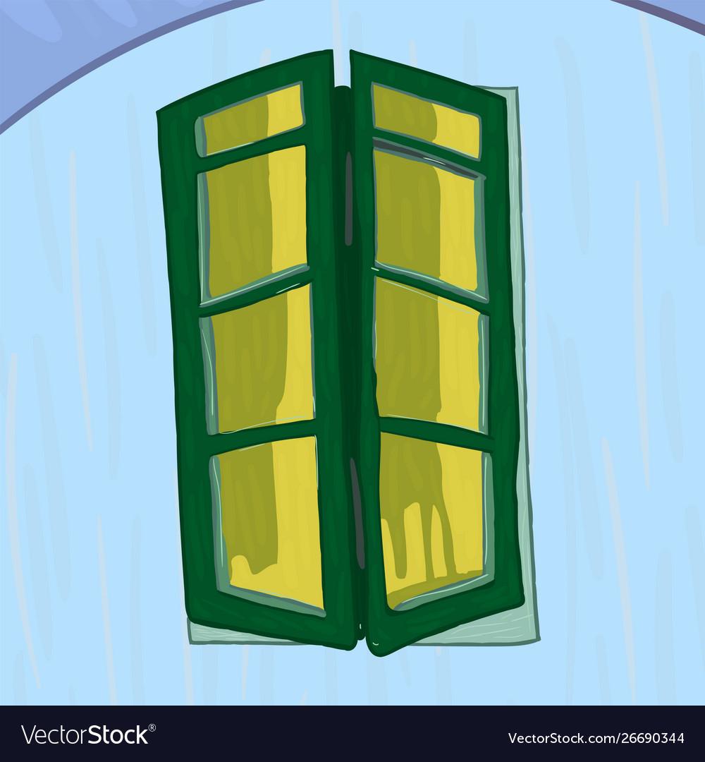 Window in van gogh style