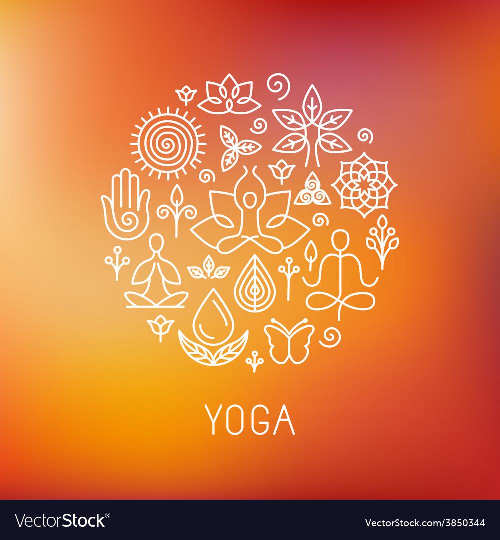 Yoga logo vector image