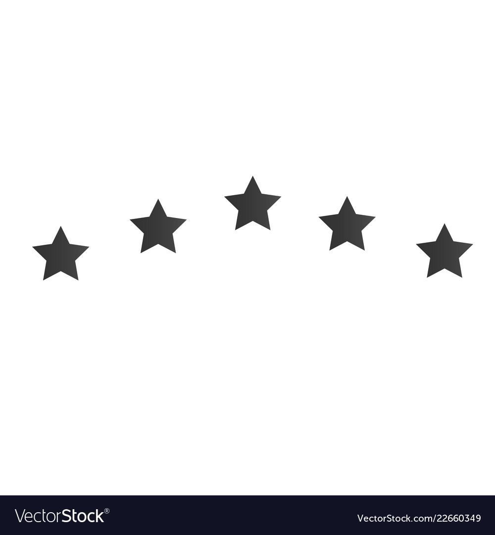 5 star icon for badge for website or app - stock