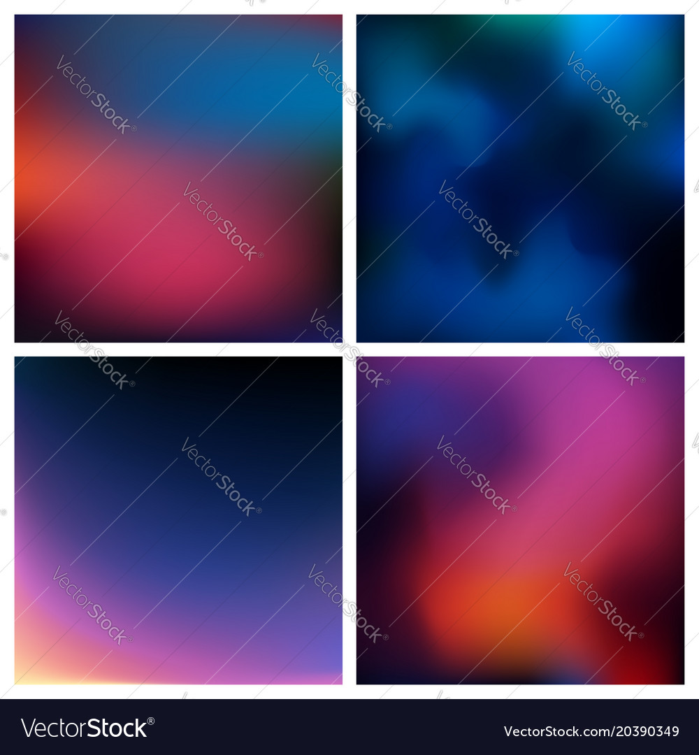 Abstract red blue black blurred background
