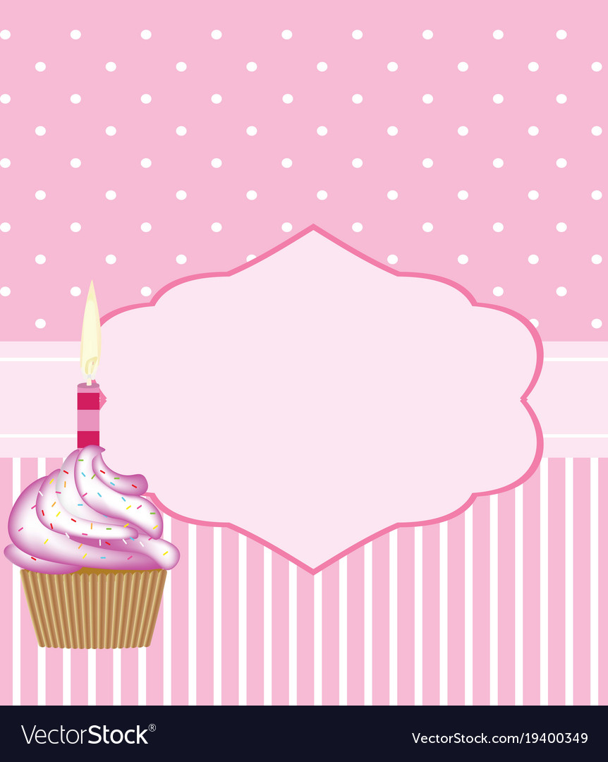 birthday card template for girls royalty free vector image
