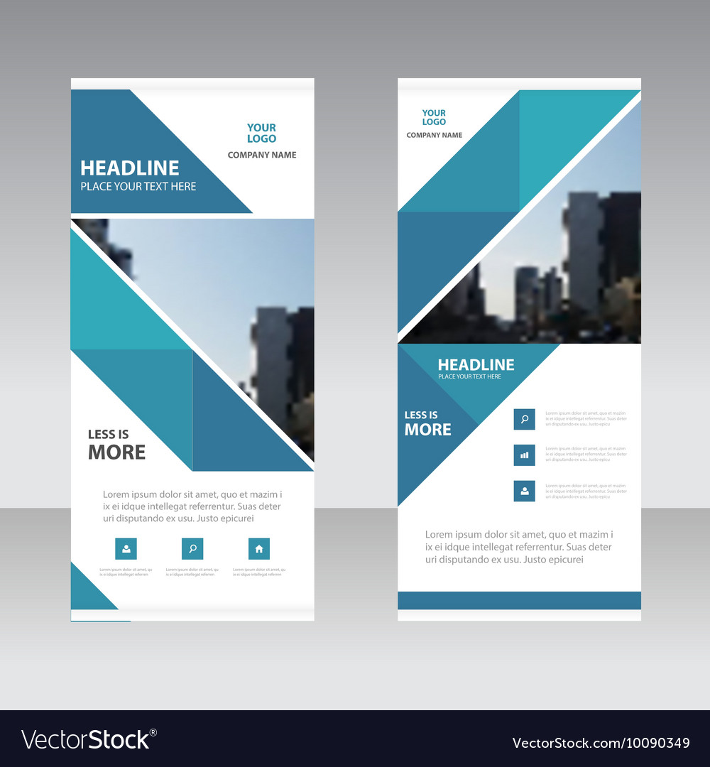 Business Roll Up Banner flat design template Abst