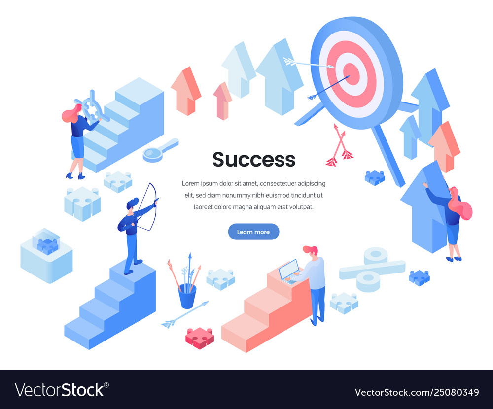 Business success landing page template