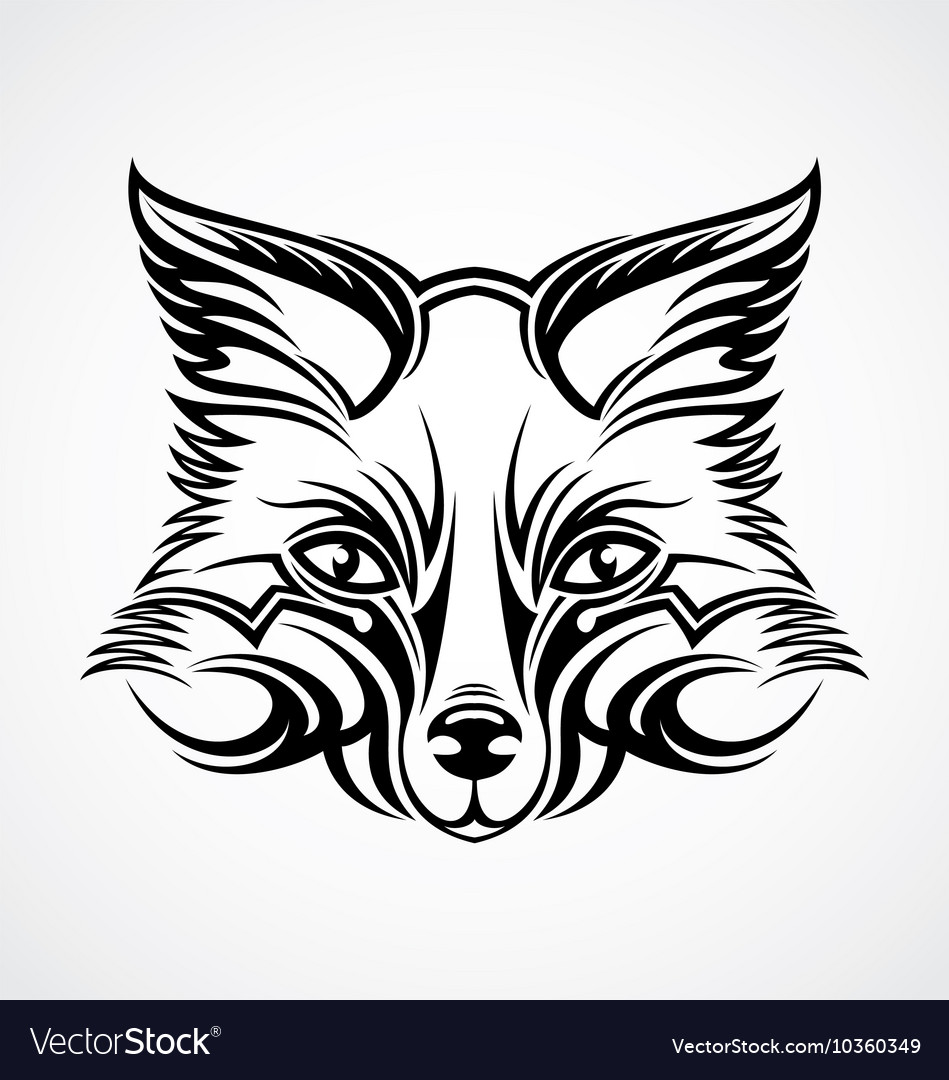 Fox Head Tattoo Design