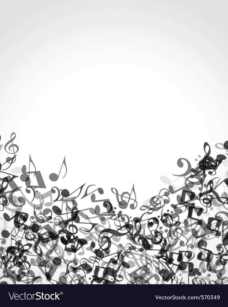 Musical notes background vector image