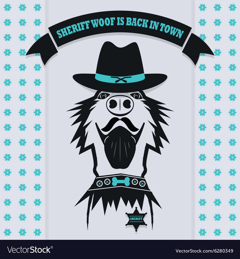 dog sheriff hat