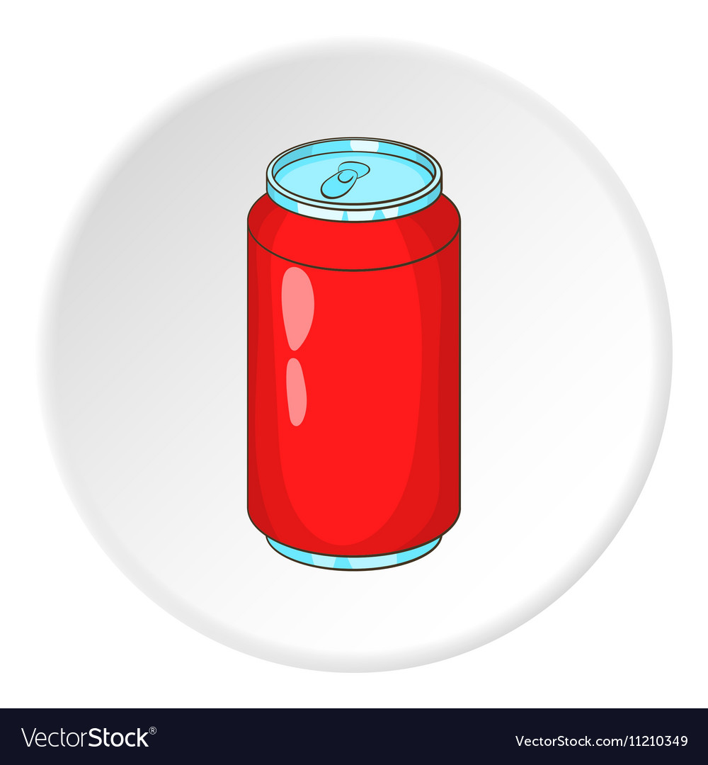 soda can icon cartoon style royalty free vector image