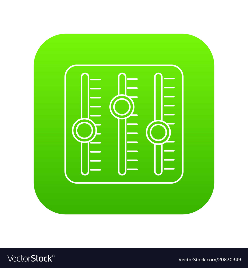 Sound mixer icon green