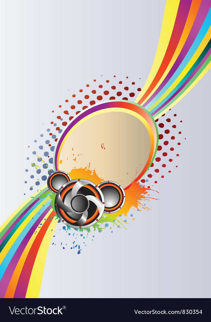 Abstract rainbow music Background