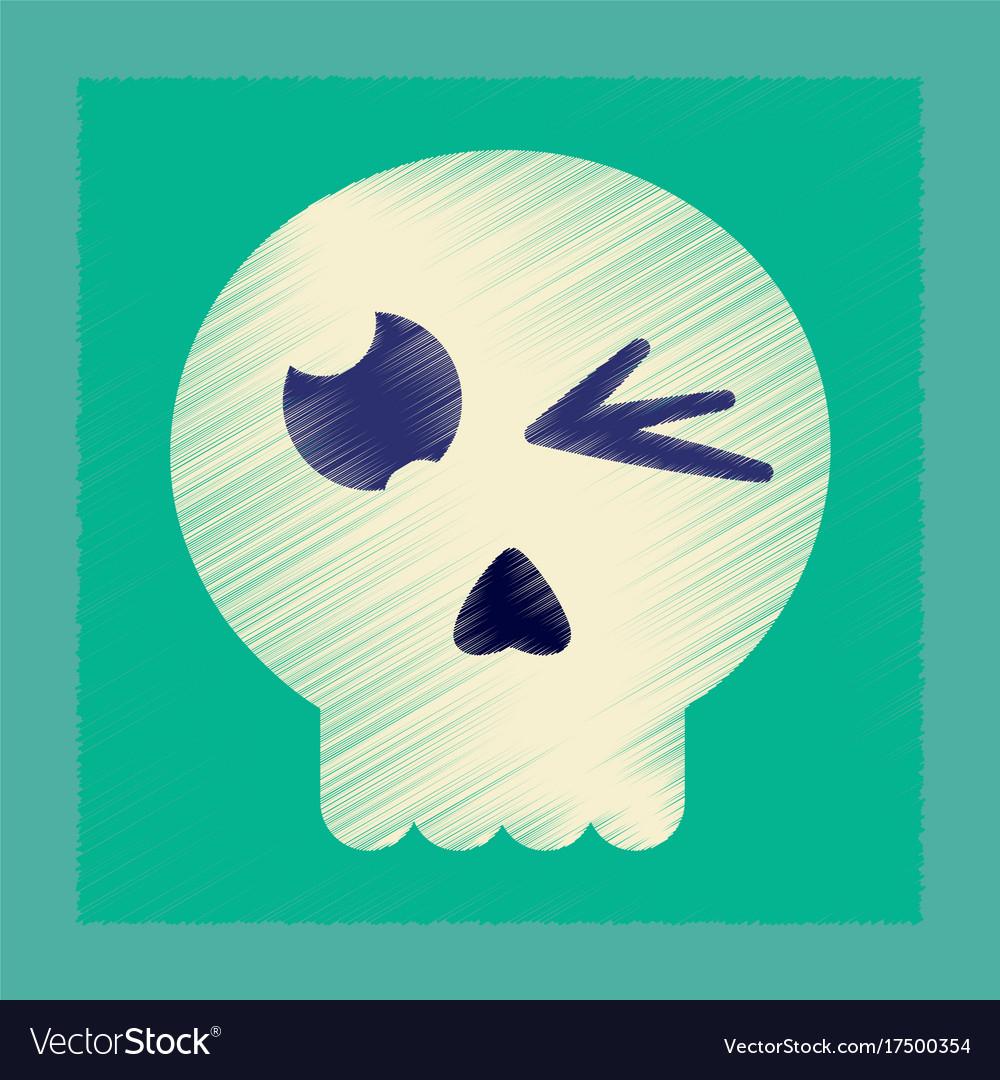 flat linear bloody skull