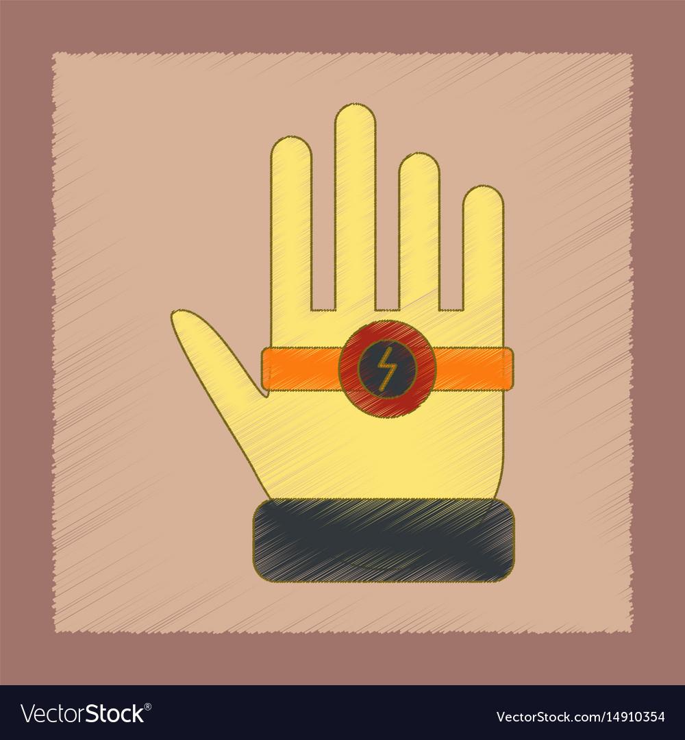 Flat shading style icon kids bracelet hand vector image