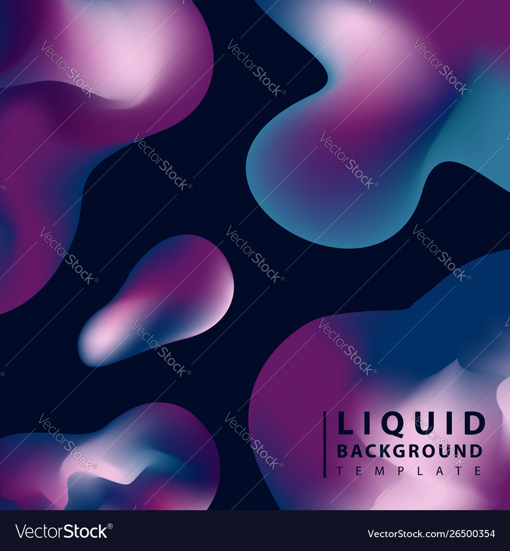 Fluid abstract background colorful liquid shape