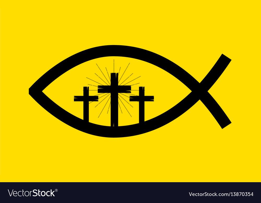 Jesus Fish Symbol Royalty Free Vector Image Vectorstock