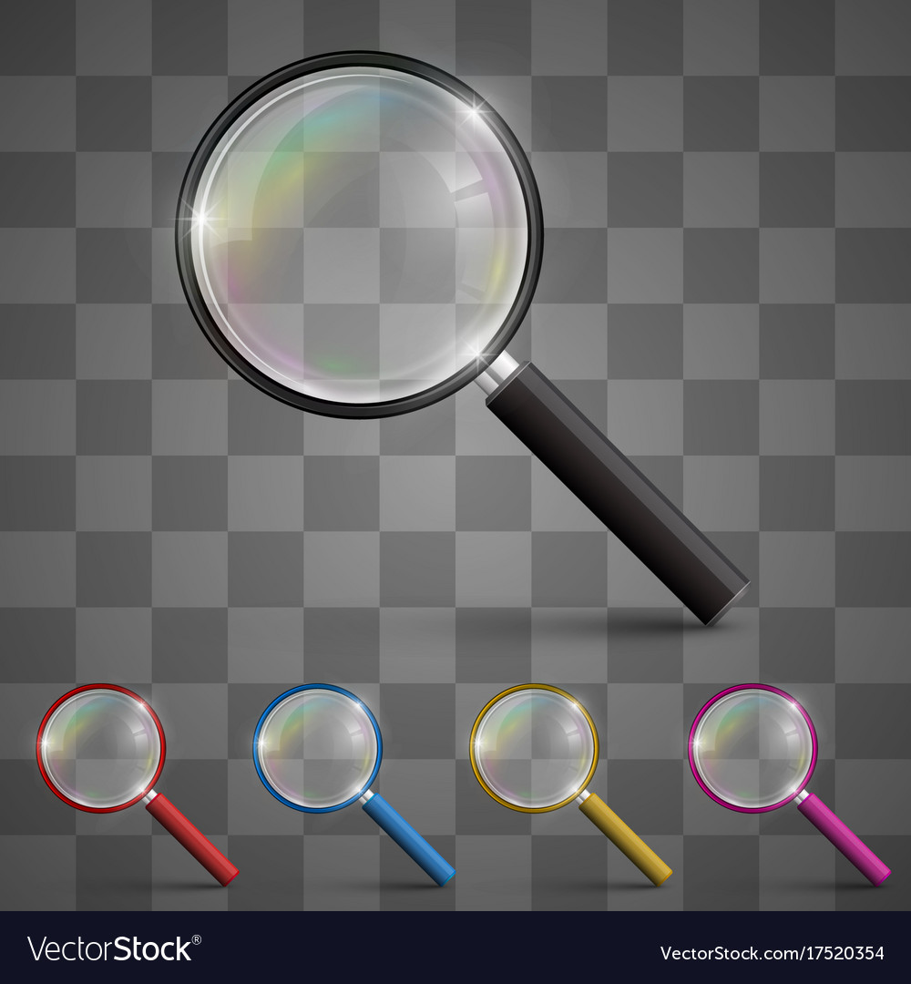 Magnifying glass art set color