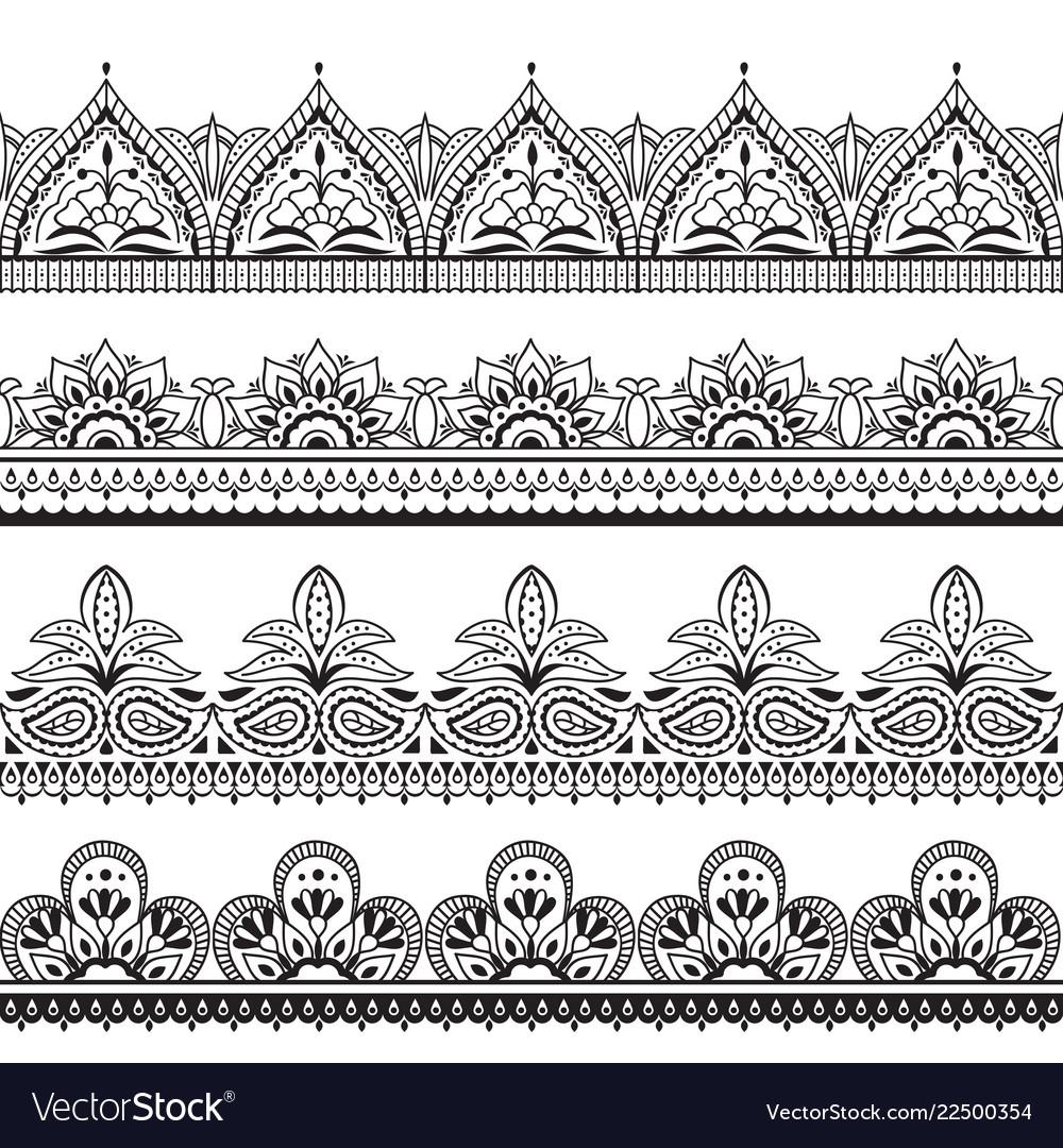 Mehndi indian design henna oriental seamless