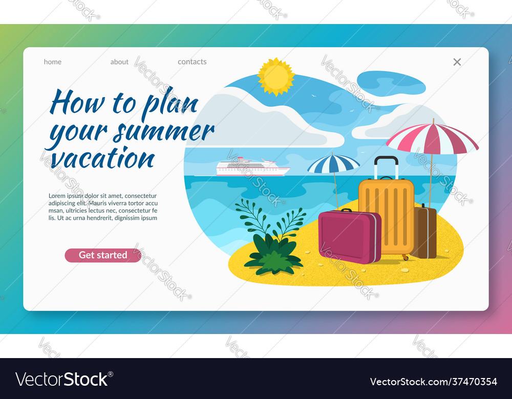 Summer vacation flat design