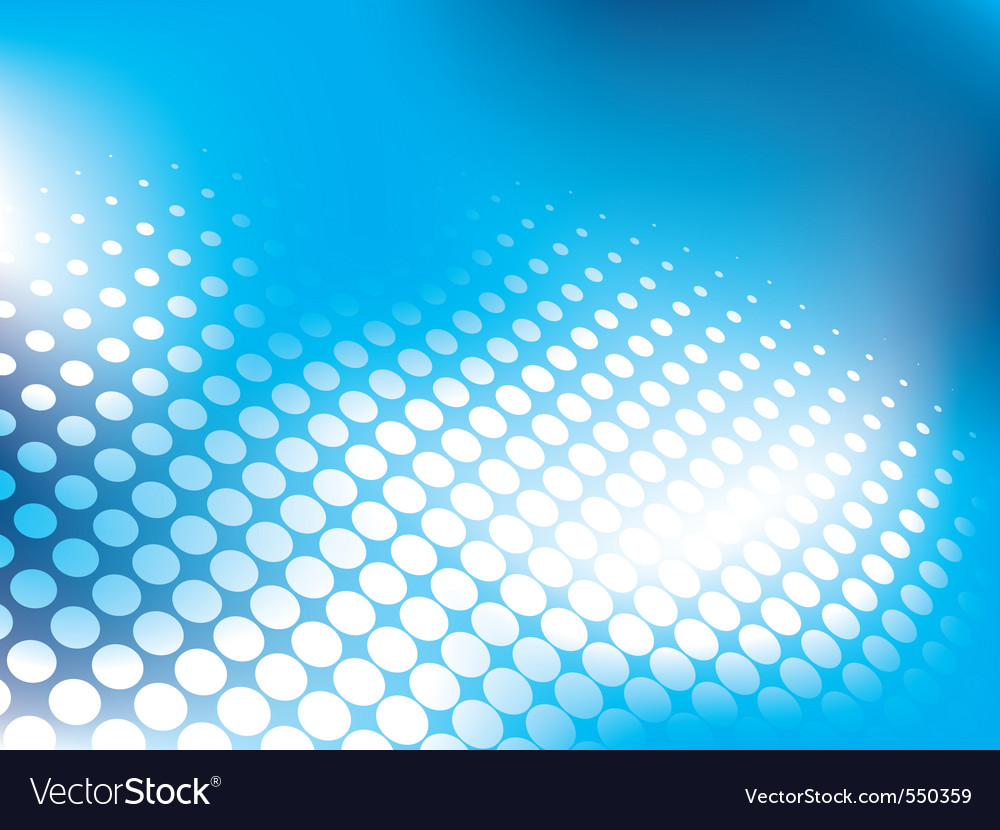 Blue abstract background with halftone