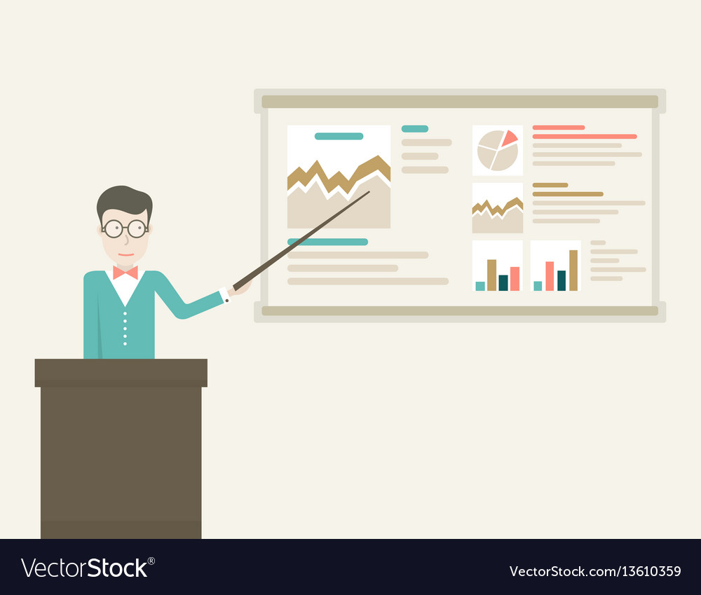 Business coach vector image