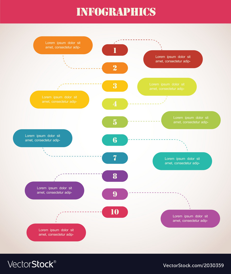 Colorful Timeline Infographic Template Royalty Free Vector - Free timeline infographic template