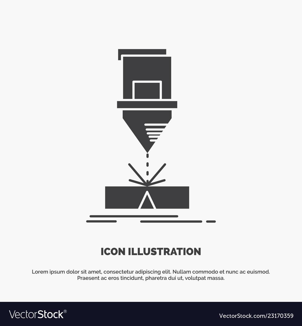 Cutting engineering fabrication laser steel icon