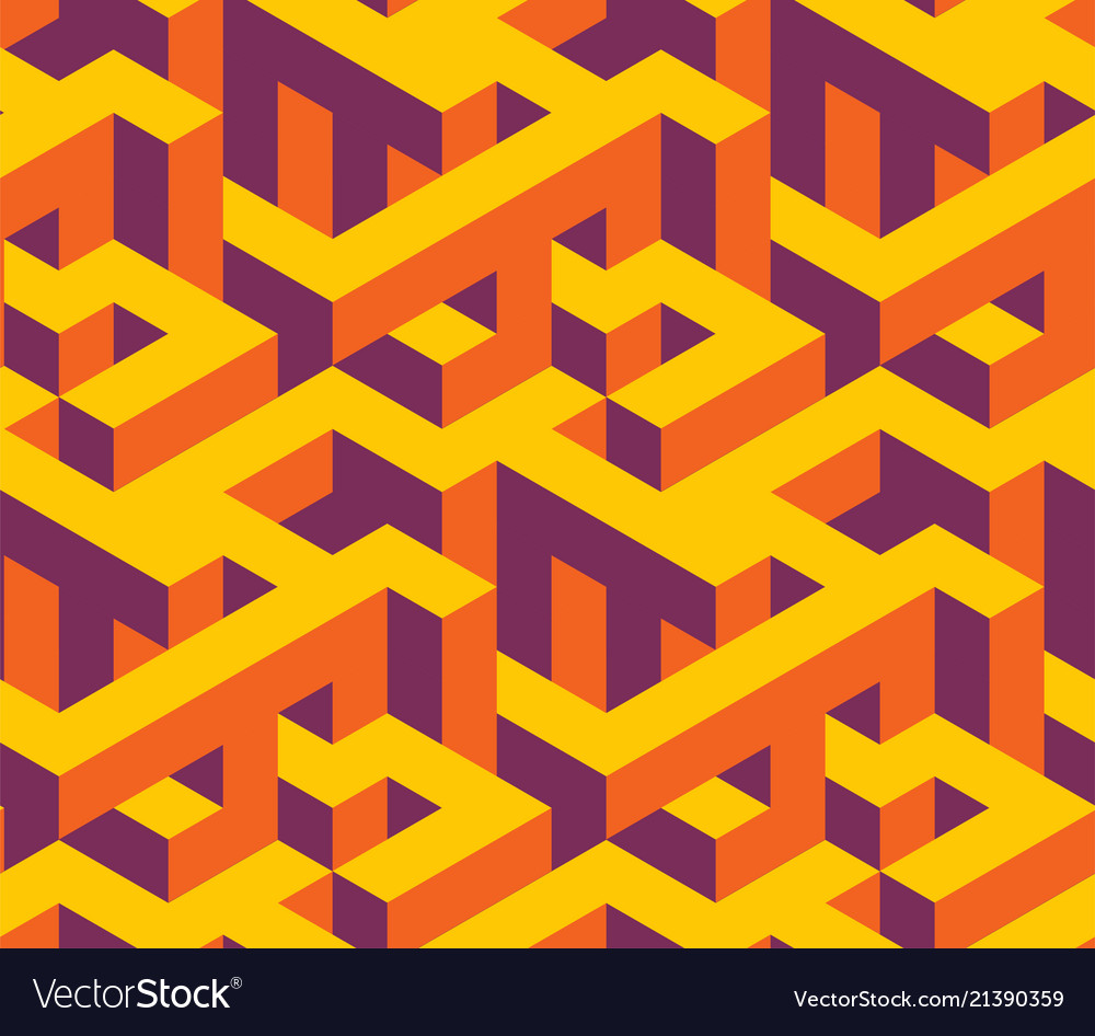 Isometric labirynth pattern