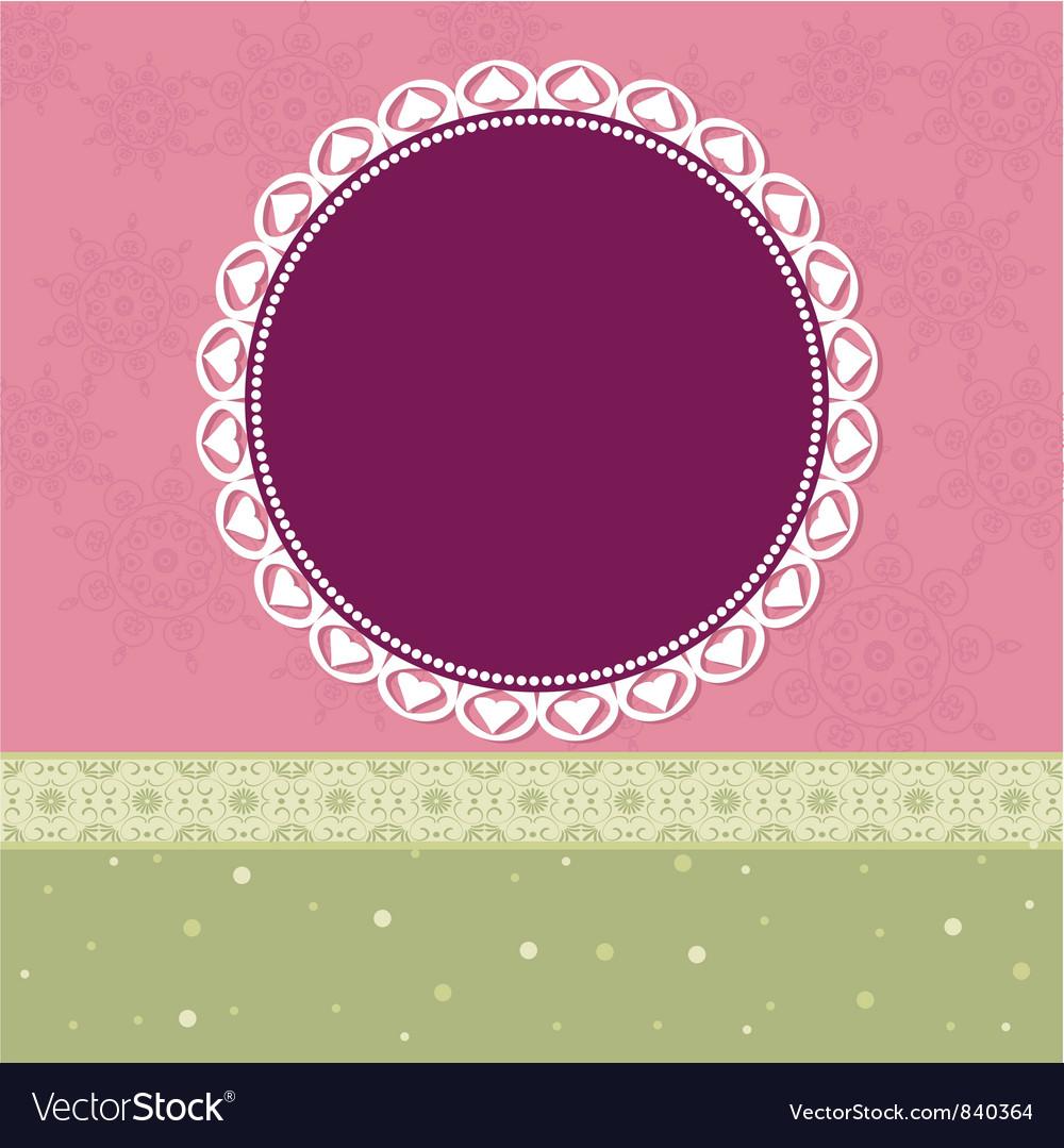 Arabesques Pattern Frame vector image