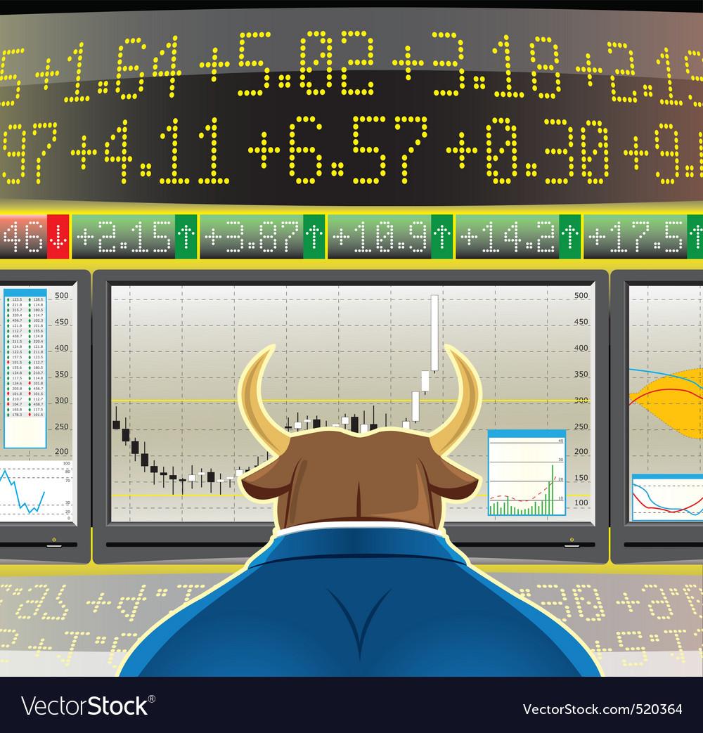 Bull market vector image
